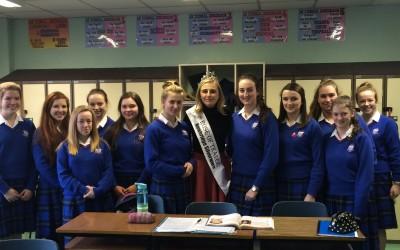 Visit of Rose of Tralee – Elysha Brennan