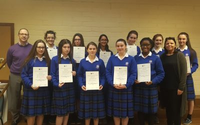 12 Mercy Students Celebrate Excellence in Junior Certificate Business