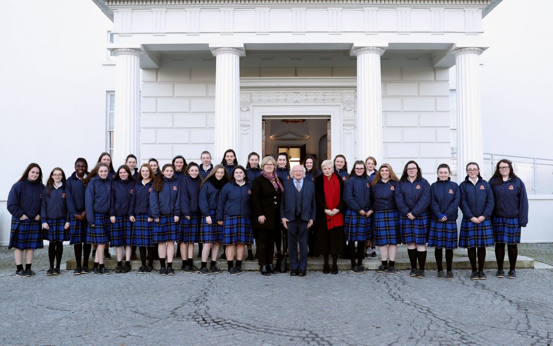 Transition Years Visit the Áras