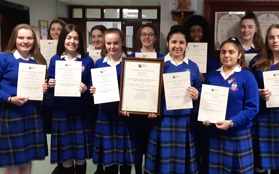 Maynooth University Business Awards for Mercy Students